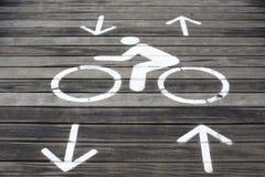 Знак велосипеда Стоковое Изображение RF