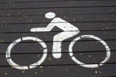 Знак велосипеда Стоковые Изображения RF