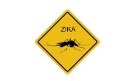 Знак вируса Zika Стоковое Изображение