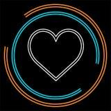 Знак влюбленности вектора иллюстрация сердца, Валентайн иллюстрация вектора