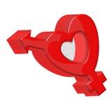 знак влюбленности Стоковое Изображение