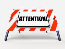 Знак внимания показывает предупреждение или бдительное извещение бесплатная иллюстрация