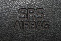 Знак 2 воздушной подушки автомобиля Стоковое фото RF