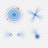 Знак волны звуколокации также вектор иллюстрации притяжки corel Икона радиолокатора иллюстрация вектора