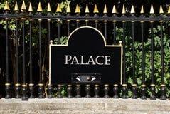 Знак дворца Стоковое Фото