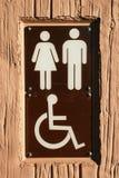 знак выведенный из строя ванной комнатой Стоковые Фотографии RF