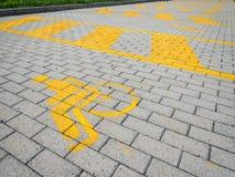 знак выведенный из строя автомобилем паркуя Стоковое Изображение