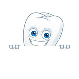 Знак владением талисмана шаржа зуба Стоковое Изображение RF