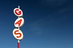 знак газа ретро Стоковое Изображение RF