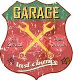 Знак гаража иллюстрация вектора