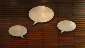 Знак говорить стоковое изображение rf