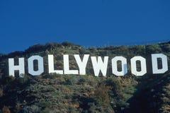 Знак Голливуд, Los Angeles, CA Стоковая Фотография RF