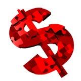 знак головоломки доллара Стоковое Изображение