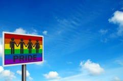 знак голубой гордости фото реалистический Стоковая Фотография RF