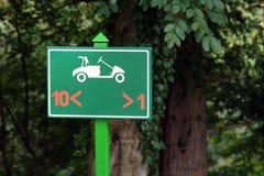 знак гольфа Стоковое Изображение RF