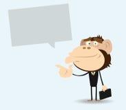 знак гориллы бизнесмена Стоковые Фотографии RF