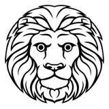 Знак гороскопа зодиака льва Лео иллюстрация вектора