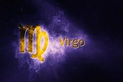 Знак гороскопа Virgo Абстрактная предпосылка ночного неба Стоковое Изображение RF