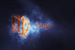 Знак гороскопа Virgo Абстрактная предпосылка ночного неба Стоковые Фотографии RF