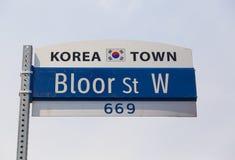 Знак городка Кореи Стоковое Изображение RF