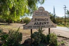 Знак городка принца Альберта Стоковое фото RF