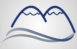 знак горы логоса иллюстрация вектора