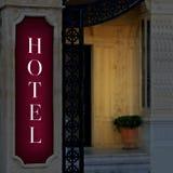 знак гостиницы Стоковые Изображения RF