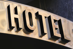 Знак гостиницы Стоковые Изображения