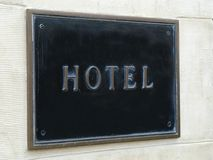 знак гостиницы Стоковое Изображение RF