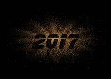 Знак года 2017 на предпосылке вектора взрыва луча яркого блеска иллюстрация штока