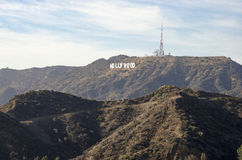 Знак 2 Голливуда Стоковое Фото
