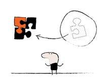 Знак головоломки человека Doodle Стоковые Изображения
