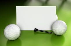 Знак гольфа, сообщение над зеленым цветом Стоковая Фотография RF