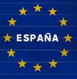 знак граници Испания Стоковое Изображение