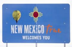 Знак границы Неш-Мексико и Колорадо Стоковые Изображения RF