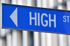 Знак главной улицы Стоковая Фотография RF