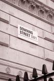 Знак Даунинг-стрит, Лондон Стоковые Фото