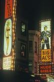 Знак девушок обнажённого большого Al неоновый Стоковая Фотография