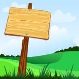 знак деревянный Стоковые Изображения
