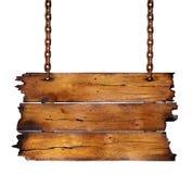 знак деревянный Стоковое Изображение RF