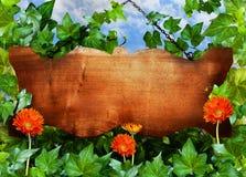 знак деревянный Стоковые Изображения RF
