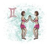 Знак Джемини зодиака Стоковые Фотографии RF