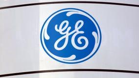 Знак Дженерал Электрик на стене Стоковое Изображение