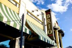 Знак для итальянского Brio ресторана стоковое фото rf