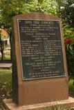 Знак для парка Beranabela Ramos в Santa Cruz, Коста-Рика стоковые изображения rf