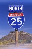 Знак для 25 северного Стоковые Изображения