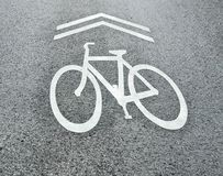 знак доли дороги велосипеда стоковые изображения
