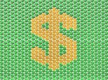 знак доллара зеленый Стоковые Фото