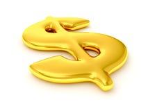 знак доллара золотистый Стоковое Фото