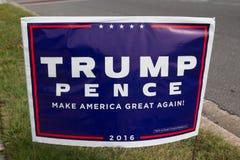 Знак Дональд Трамп Стоковые Изображения